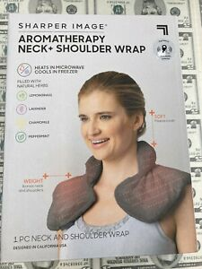 Sharper Image Aromatherapy Hot Or Cold Natural Herbs Neck Shoulder Wrap - New