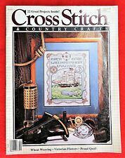 Cross Stitch & Country Crafts Magazine Jan/Feb 1989 Wheat Weaving Proud Quail