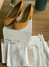 Chloe Managua Luminous Ochre Pump Suede Shoes Eu39/6,5 Uk RRP £395 Made In Italy