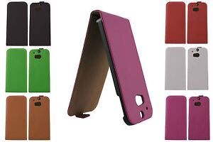 LUXURY GENUINE Real Leather Flip Case Cover for HTC One M8 2014 UK FREE DISPATCH