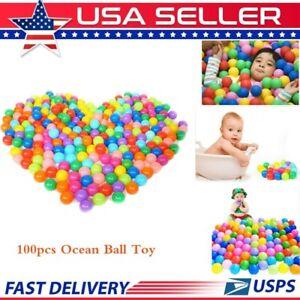 Ocean Ball 100pcs Colorful Soft Secure Baby Kids Boy Girl Pit Toy Swim Fun Play