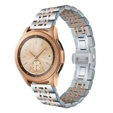 V-MORO Compatible with Galaxy Watch 42mm Bands Rose Gold 20mm Solid Stainless St