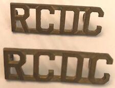 Royal Canadian Dental Corps (RCDC) Shoulder Epaulette Title Badge #702