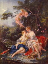 Francois Boucher Rococo style Jupiter and Callisto Wall Print POSTER FR