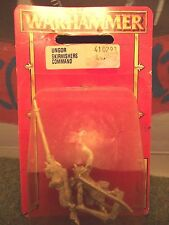 COMANDO SKAVEN STORMVERMIN. i modelli in metallo Vintage. NUOVO con scatola. WHFB (r705)