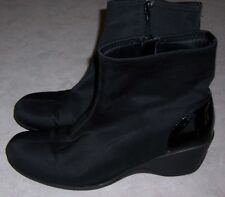 "KAREN SCOTT Shelly Womens Size 8.5M Black Fashion Ankle Boots 2 1/4"" Heels"