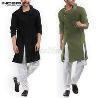 INCERUN Men Kurta Ethnic Shirts Long Sleeve Shirt Formal T Shirt Top Smart Dress