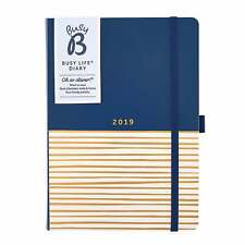 BusyB Busy Life Navy & Gold Engagement Diary 2019 Prints Patterns
