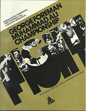 1974 george foreman vs muhammad ali american cc titre mondial programme