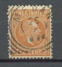 Nederlands Indië   9 k gebruikt met vierkantstempel MEDAN
