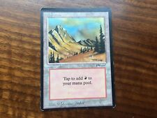 Miscut Arabian Nights Mountain Misprint GENUINE MTG Magic Vintage EDH #1
