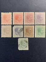 1882 Puerto Rico Stamps,Lot of 9