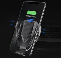 Car Android/iPhone Fast Wireless Charger Air Vent + CD Mount Automatic Clamping