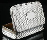 Antique Silver Snuff Box, Joseph Willmore, Birmingham 1830