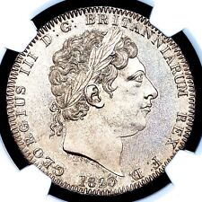 1820 King George III Great Britain London Mint Silver LX Crown Coin NGC MS64