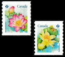 Canada Lotus permanent set (2 stamps from coil of 100) MNH 2018