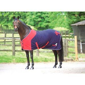 Masta - Windsor Show Rug - Equestrian Fleece Rug - Navy/Red Or Burgundy/Navy