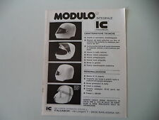 advertising Pubblicità 1976 CASCO HELMET IC ITALCASCHI - BARLASSINA