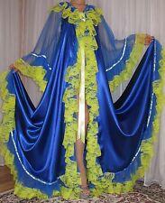 Vtg satin nylon lingerie nightgown long full sweep robe negligee 2X-4X