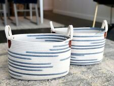 Woven Fabric Baskets (Set of 2) by Handcrafted 4 Home