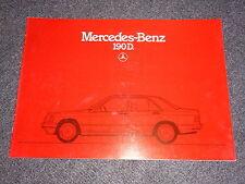 MERCEDES W201 190 D Prospekt von 1985
