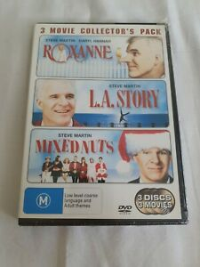 Roxanne - L.A Story - Mixed Nuts 3 DVD Pack Comedy STEVE MARTIN Reg 4 Free Post