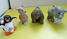 Fisher Price Little People Zoo Animals & Babies-Penguin,Elephant,Ape & Kangaroo