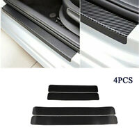 4Pcs Universal Car Threshold Carbon Fiber Look Sticker Door Plate Anti-Kicked