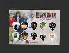 Queen Matted Picture Guitar Pick Set Limited We Are The Champions Rock You
