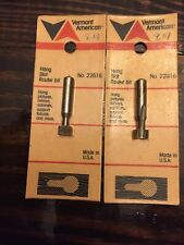 """New listing Vermont American 22616 3/8"""" Hang Slot High Speed Steel Router Bit (2 Pieces)"""