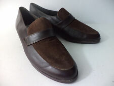 MUNRO SPORT US Womens 7.5M Brown Smooth & Suede Loafer Shoe USA