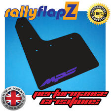 Rally Mudflaps MAZDA 3 MPS (07-09) Mk1 Mud Flaps 4mm PVC Black Logo Purple