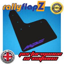 Rally Mudflaps MAZDA 3 MPS (10-13) Mk2 Mud Flaps Kit Black Logo Purple -4mm PVC