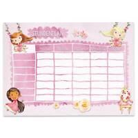 Papierdrachen Stundenplan Block DIN A4 - Prinzessin