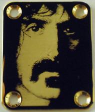 NECK PLATE Franck Zappa - GOLD - plaque de manche de guitare ou de basse