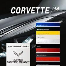 2014 STINGRAY COUPE CORVETTE LT1 - BOOK BROCHURE + PAINT CHART: C7 CHEVROLET Z51