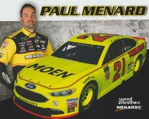 2018 Paul Menard Moen Ford Fusion NASCAR MENCS postcard