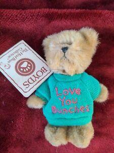 "Boyds Bear 4"" Mini Message Bear Love You Bunches Thinkin' of ya series w/tags"