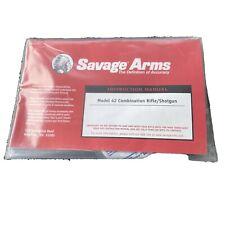 Savage Arms Model 42 Combo Rifle/shotgun Manual W Lock And Foam Ear Plugs