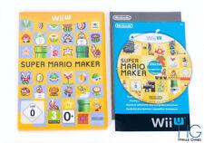 Super Mario Maker - Nintendo Wii U Game & Case PAL