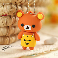 Cute Bear In Romper Animal Shape 16 Gb Novelty USB Flash Drive Memory Stick Gift