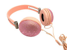 blingustyle Iridescent crystal PINK color-pad fashion Ear-Cup headphone