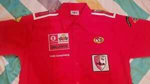 MONACO GRAND PRIX Button Down Shirt - m - RED NEW