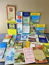 More details for large bundle of 29 vintage uk maps, road maps, guide books & street guides