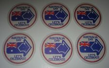 6 VINTAGE AUSTRALIA DAY DRINK COASTERS - LET'S CELEBRATE