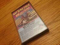 """Nat King Cole """"20 Love Songs"""" Cassette Tape"""