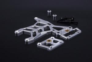 CNC alloy rear upper connecting plate set silves for 1/5 hpi baja 5b 5t 5sc part