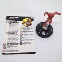 Heroclix Avengers Defenders War set Iron Man #053 Super Rare figure w/card!