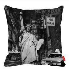 "New York Statue Of Liberty Design Cushion Cover 17"" X 17"" Home Sofa Decor"