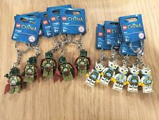 LEGO Chima Minifigure Key Ring - Cragger x 5 and Eris x 5- Ideal for Party Bags